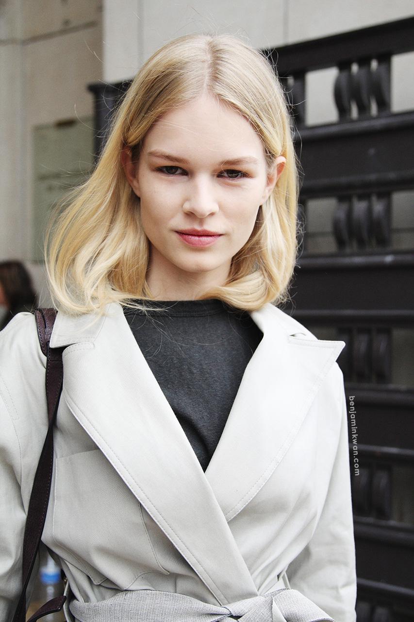 Anna Ewers at Sacai     SS 2014 Paris Snapped by Benjamin Kwan