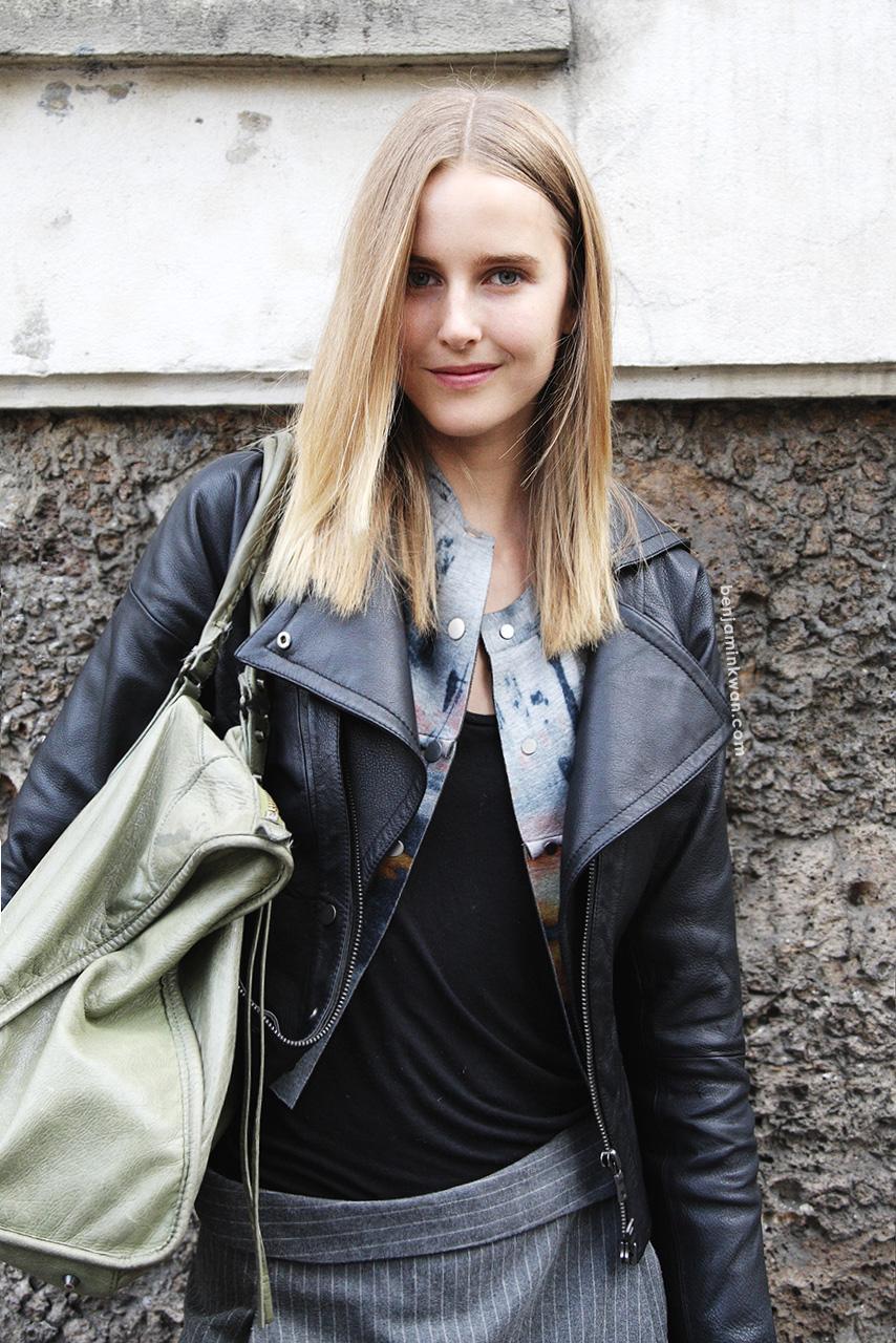 Lisanne De Jong at Chloe     SS 2014 Paris Snapped by Benjamin Kwan