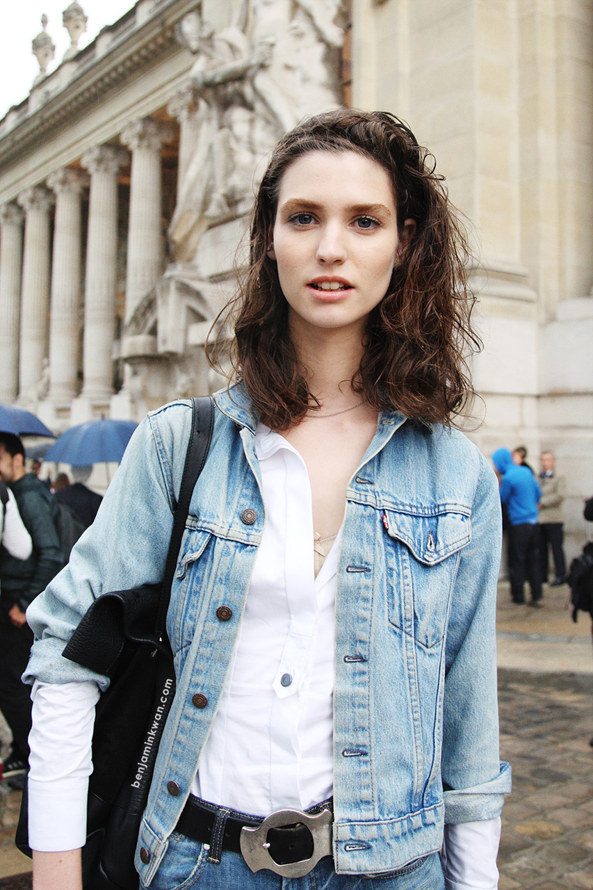 Manon Leloup at Akris     SS 2014 Paris Snapped by Benjamin Kwan
