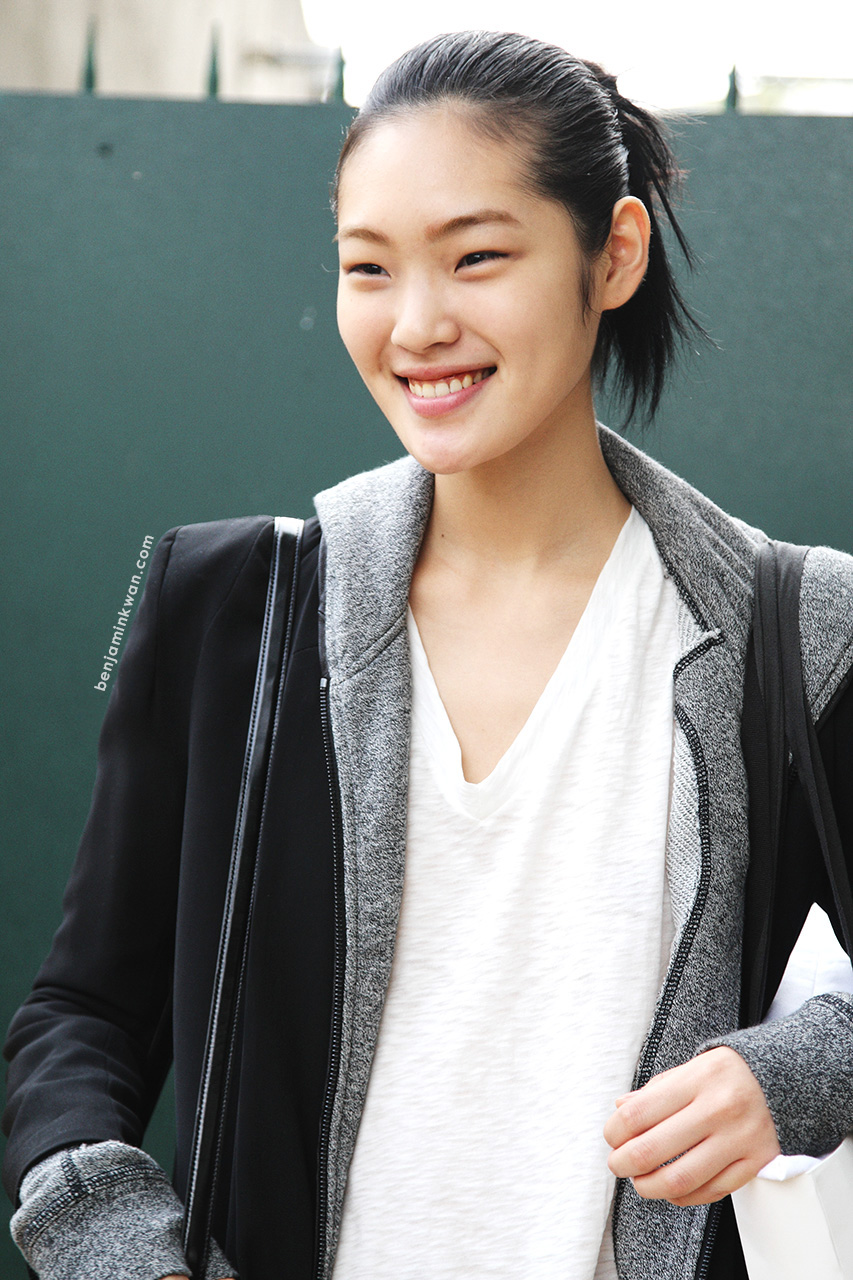 Chiharu Okunugi at Celine SS 2014 Paris Snapped by Benjamin Kwan
