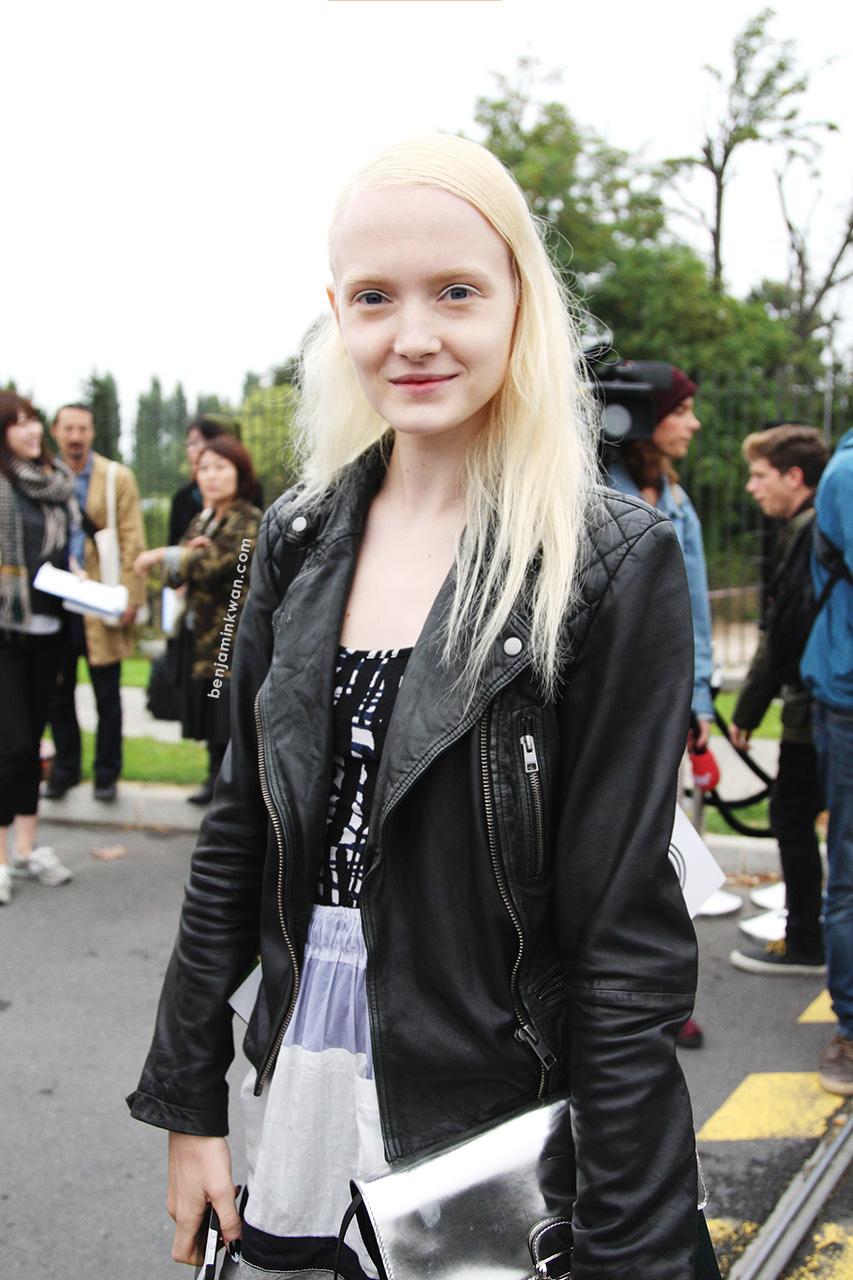 Maja Salamon at Kenzo     SS 2014 Paris Snapped by Benjamin Kwan
