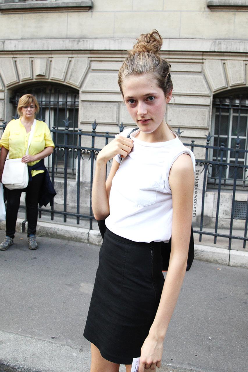 Logan Patterson at Sonia Rykiel SS 2014 Paris Snapped by Benjamin Kwan