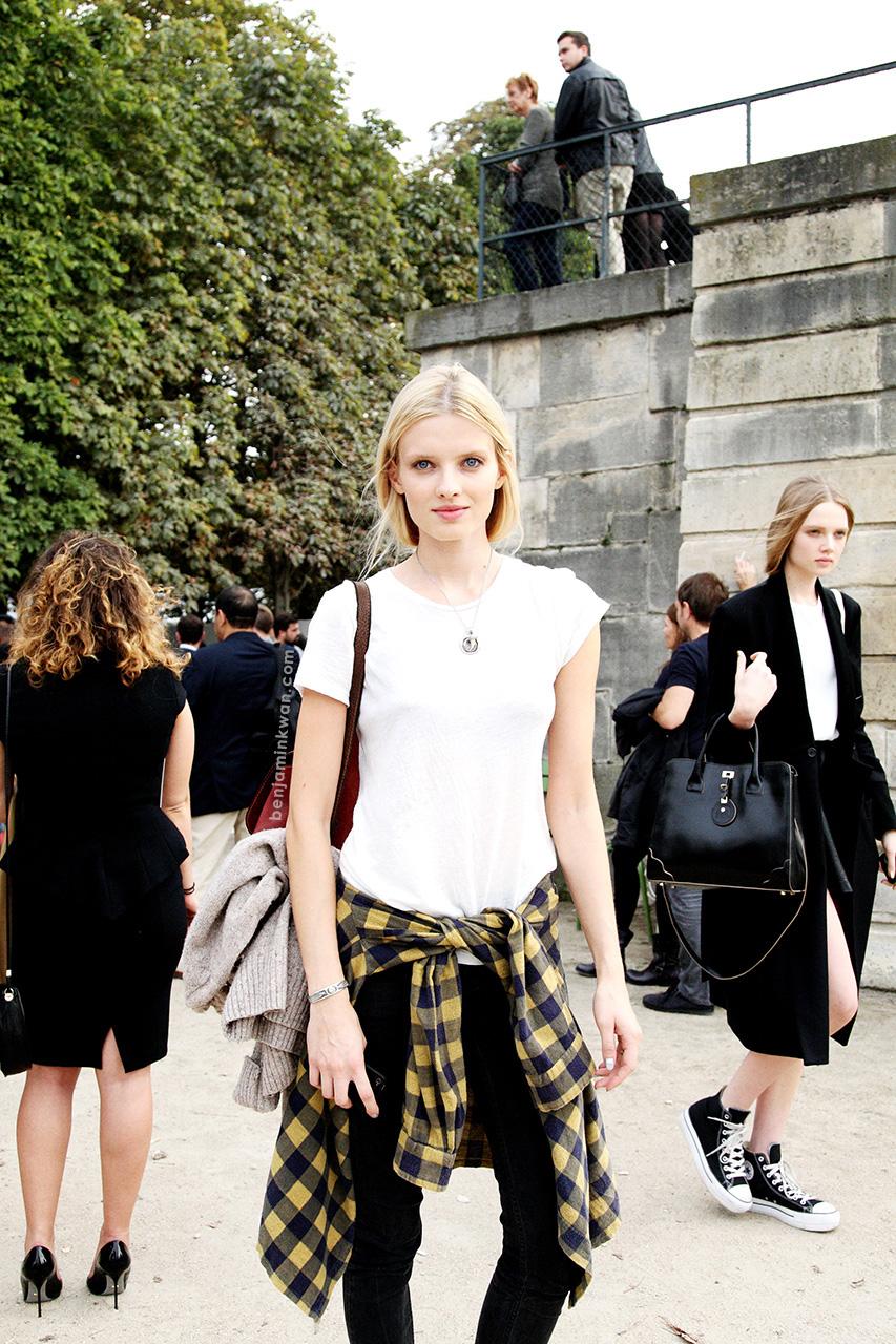 Natalia Siodmiak at Nina Ricci     SS 2014 Paris Snapped by Benjamin Kwan