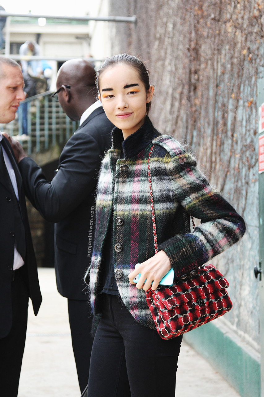 Fei Fei Sun at Celine SS 2014 Paris Snapped by Benjamin Kwan