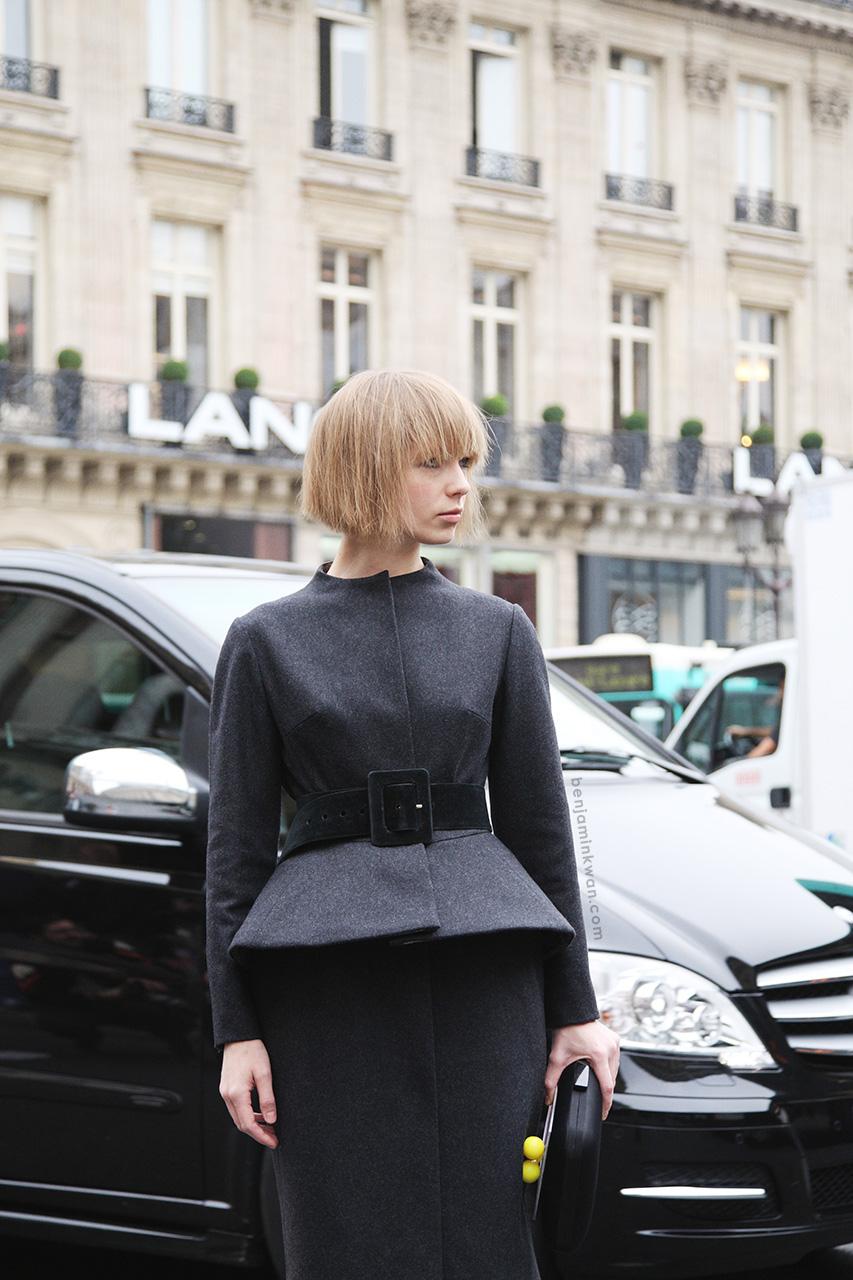 Vika Gazinskaya at Stella McCartney SS 2014 Paris Snapped by Benjamin Kwan