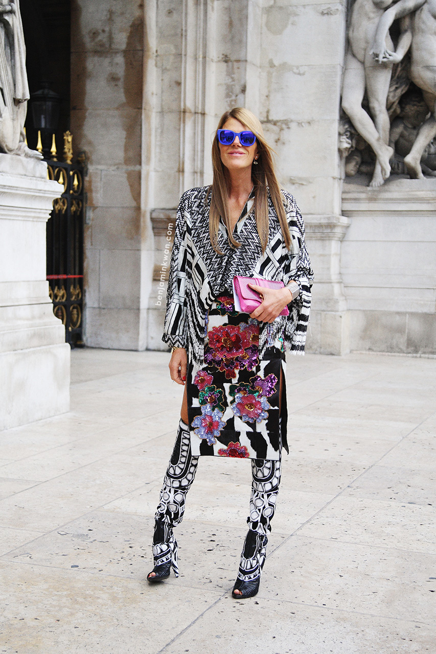 Anna Dello Russo at Stella McCartney SS 2014 Paris Snapped by Benjamin Kwan