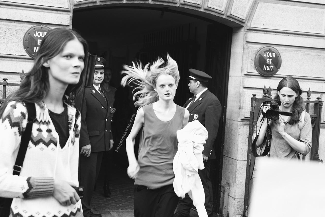 Hanne Gaby Odiele & Irina Kravchenko at Sonia Rykiel SS 2014 Paris Snapped by Benjamin Kwan