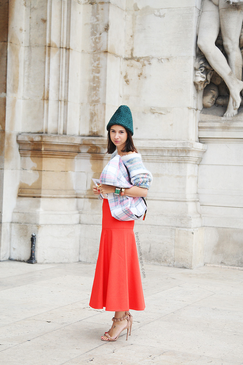 Natasha Goldenberg at Stella McCartney SS 2014 Paris Snapped by Benjamin Kwan