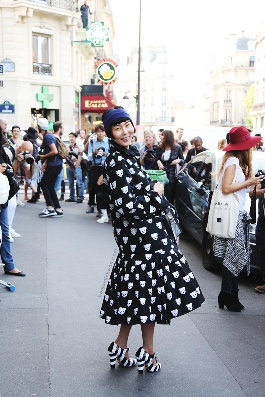 Na Young Kim at Sonia Rykiel at Stella McCartney SS 2014 Paris Snapped by Benjamin Kwan