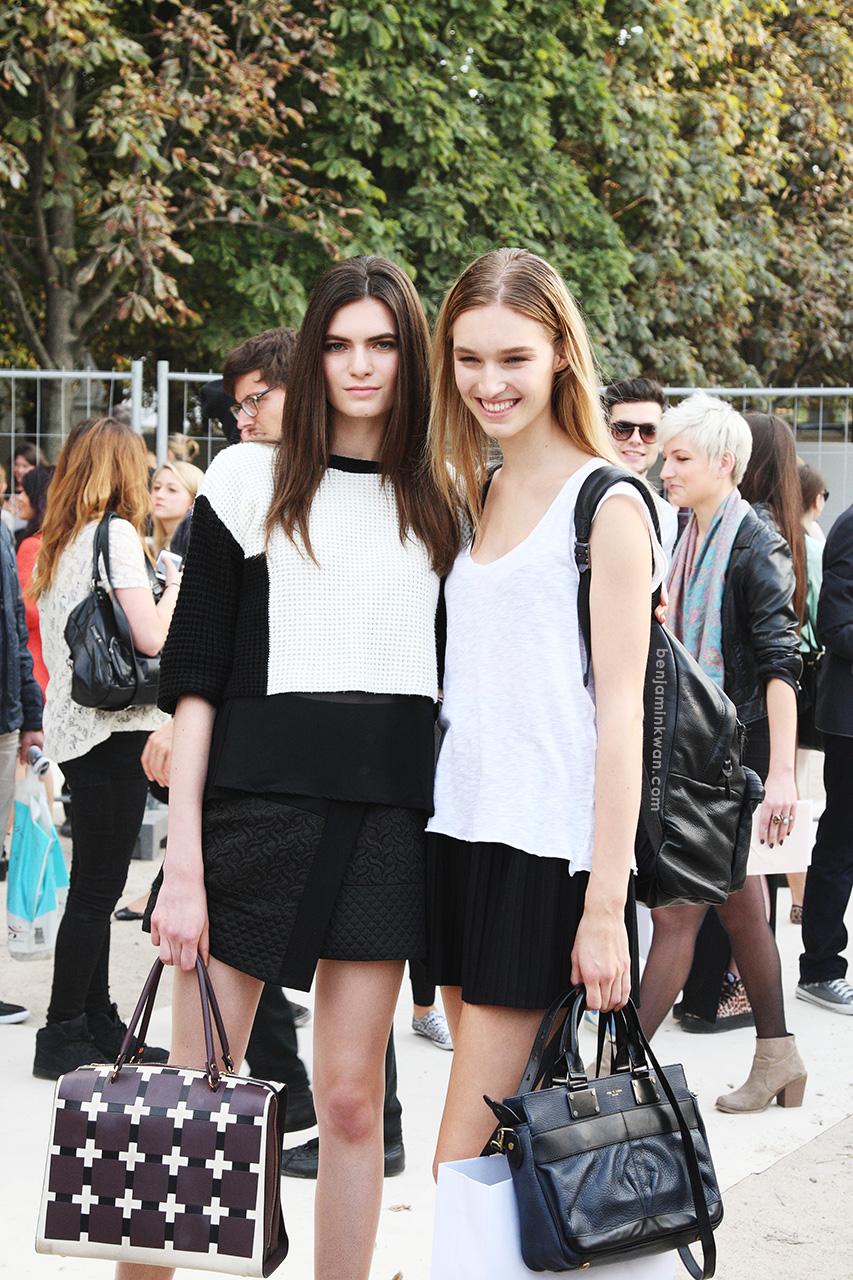 Nouk Torsing and Manuela Frey at Nina Ricci SS 2014Paris Snapped by Benjamin Kwan Paris Fashion Week