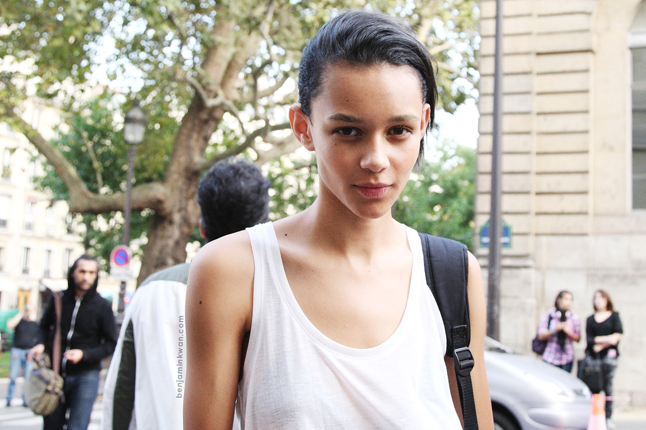 Binx Walton at Sonial Rykiel     SS 2014 Paris Snapped by Benjamin Kwan