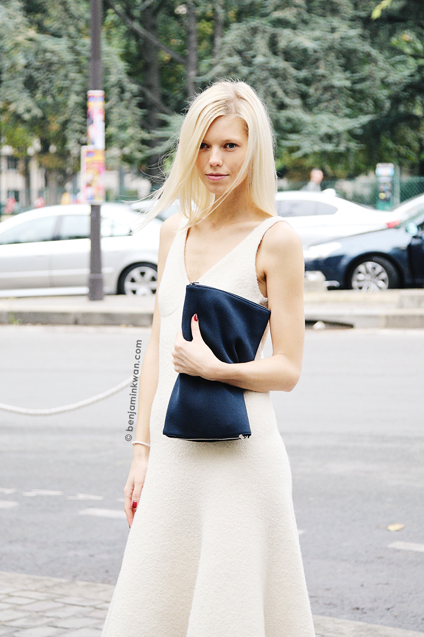 Veronika Fasinova at Celine SS 2014 Paris Snapped by Benjamin Kwan     Paris Fashion Week