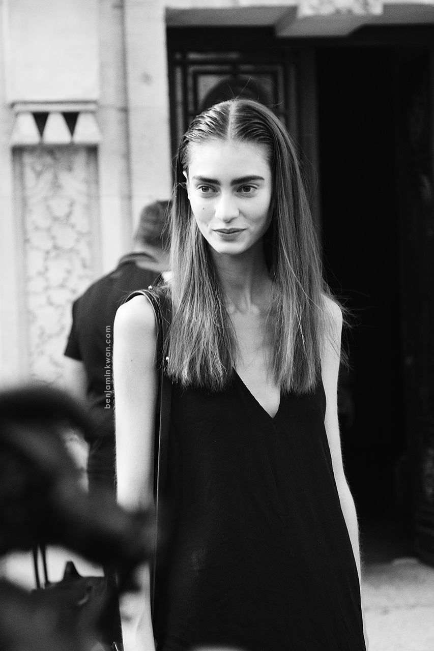 Marine Deleeuw at Acne Studios SS 2014 Paris Snapped by Benjamin Kwan