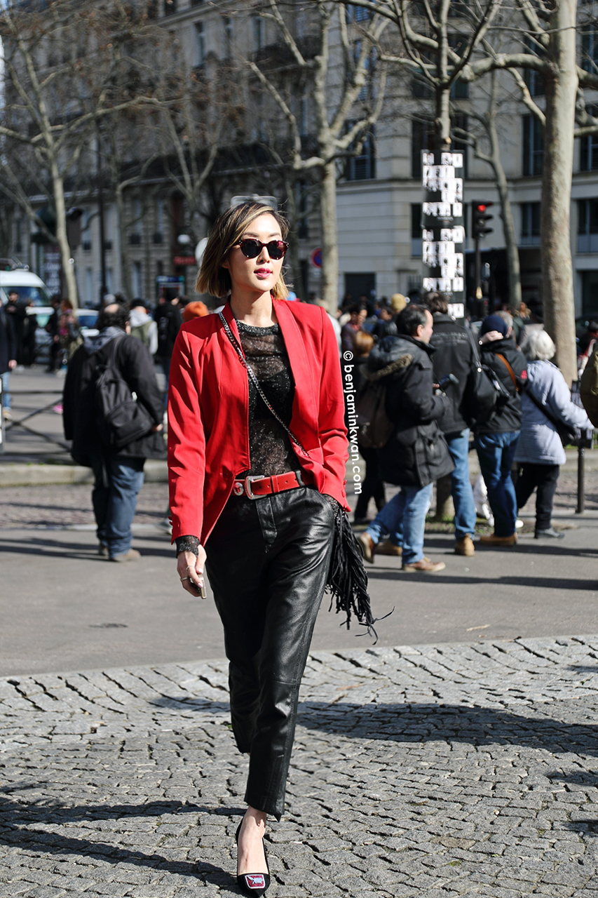 Chriselle Lim at Miu Miu     FW 2014 Paris Snapped by Benjamin Kwan     Paris Fashion Week