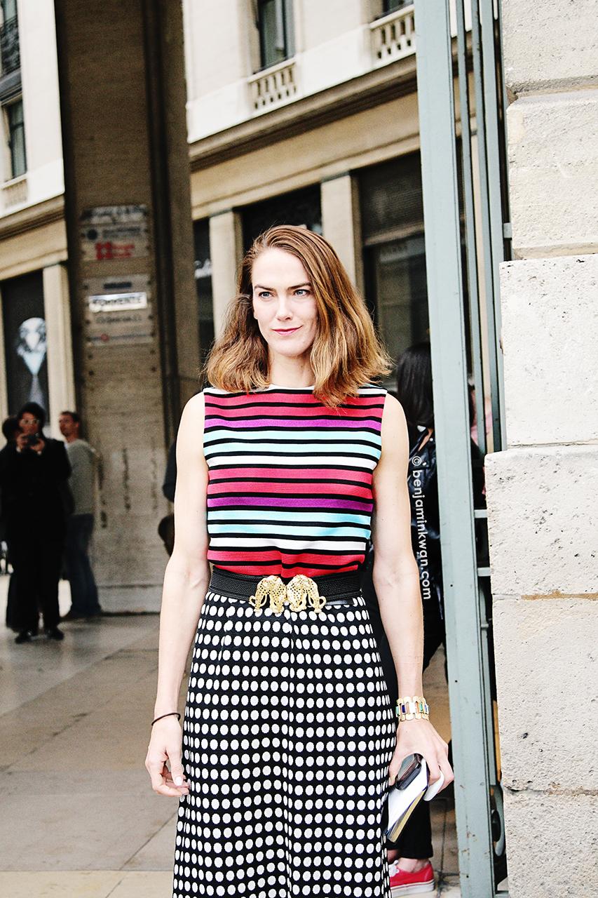 J.J. Martin at Comme des Garcon SS 2014 Paris Snapped by Benjamin Kwan Paris Fashion Week