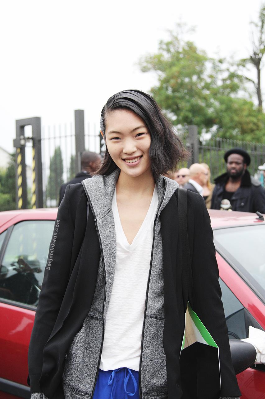 Chiharu Okunugi at Kenzo SS 2014 Paris Snapped by Benjamin Kwan