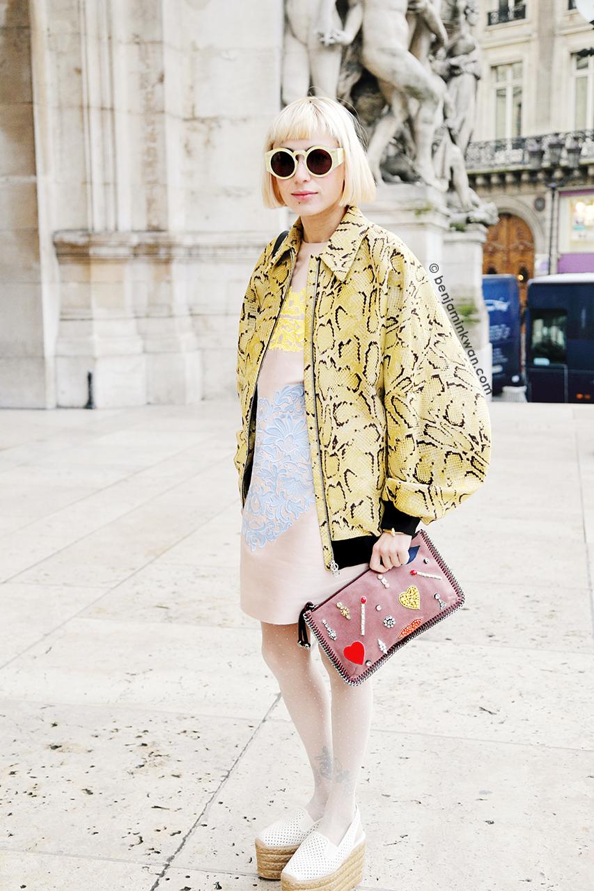 Miranda Makaroff at Stella McCartney FW 2014 Paris Snapped by Benjamin Kwan Paris Fashion Week