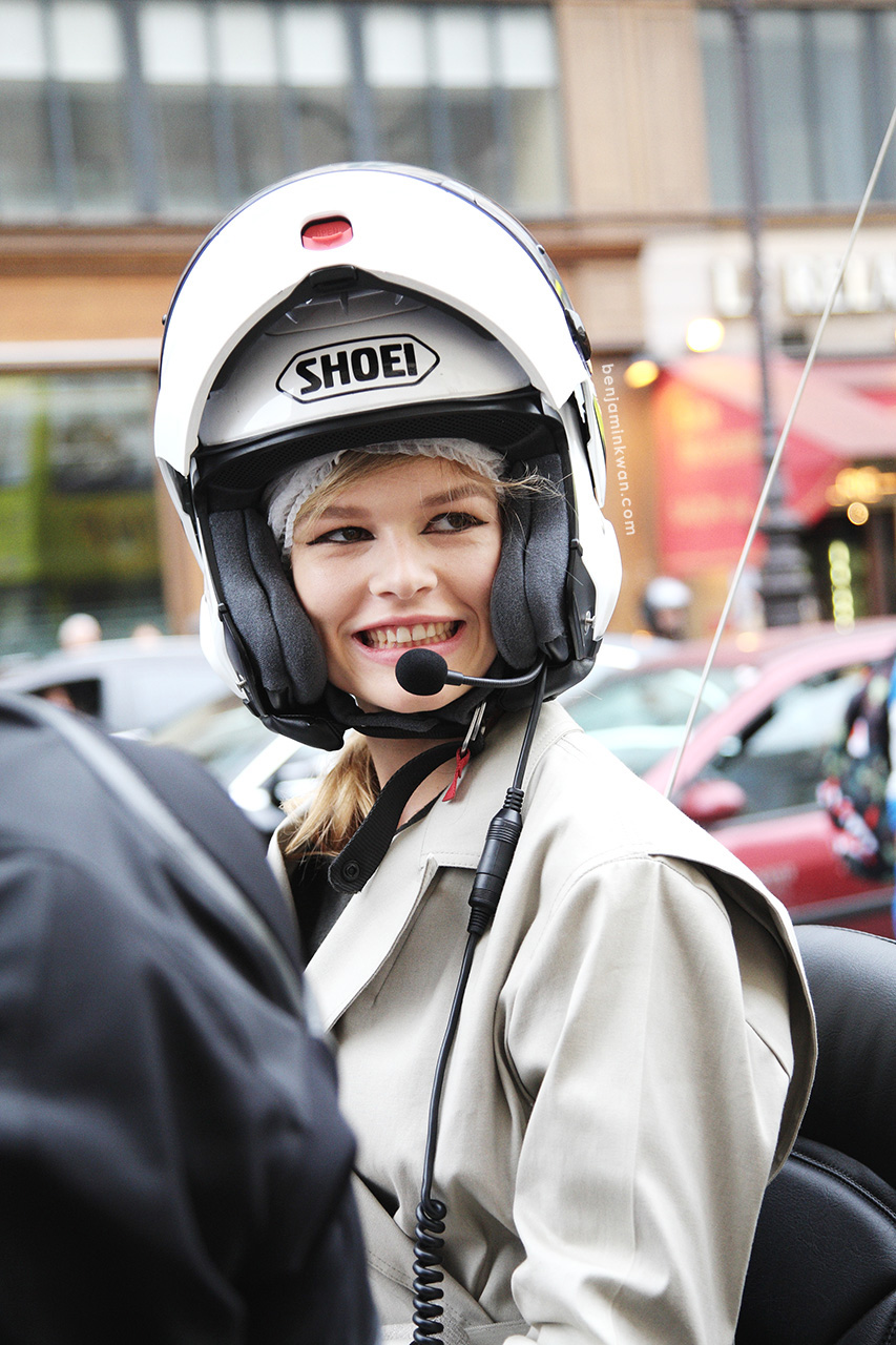 Anna Ewers at Stella McCartney SS 2014     Paris Snapped by Benjamin Kwan     Paris Fashion Week