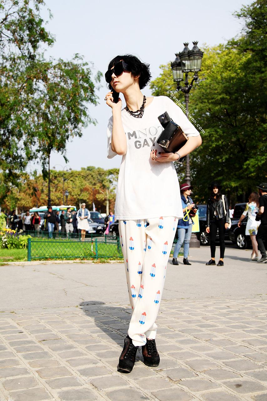 Na Young Kim at Acne Studios SS 2014Paris Snapped by Benjamin Kwan Paris Fashion Week