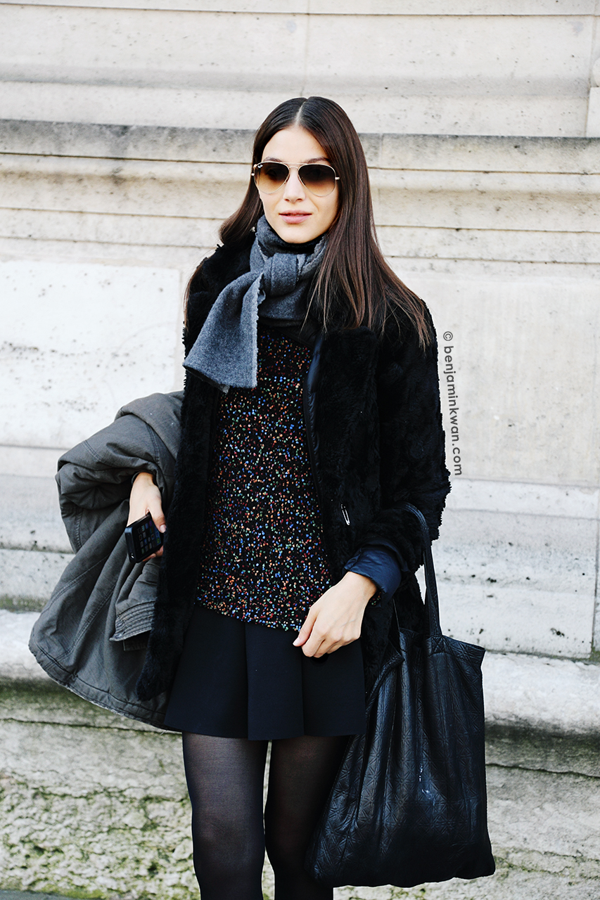 Guiliana Caramuto     at Andrew Gn FW 2014 Paris Snapped by Benjamin Kwan     Paris Fashion Week