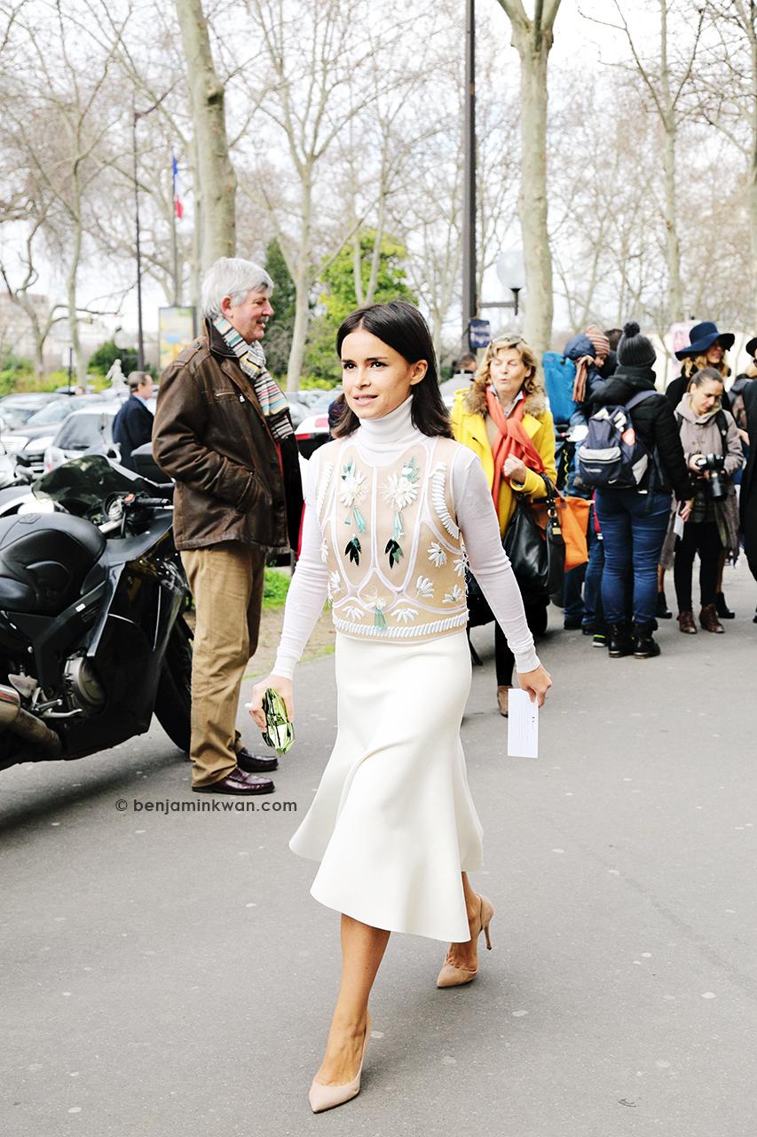 Miroslava Duma at Dior FW 2014 Paris Snapped by Benjamin Kwan     Paris Fashion Week