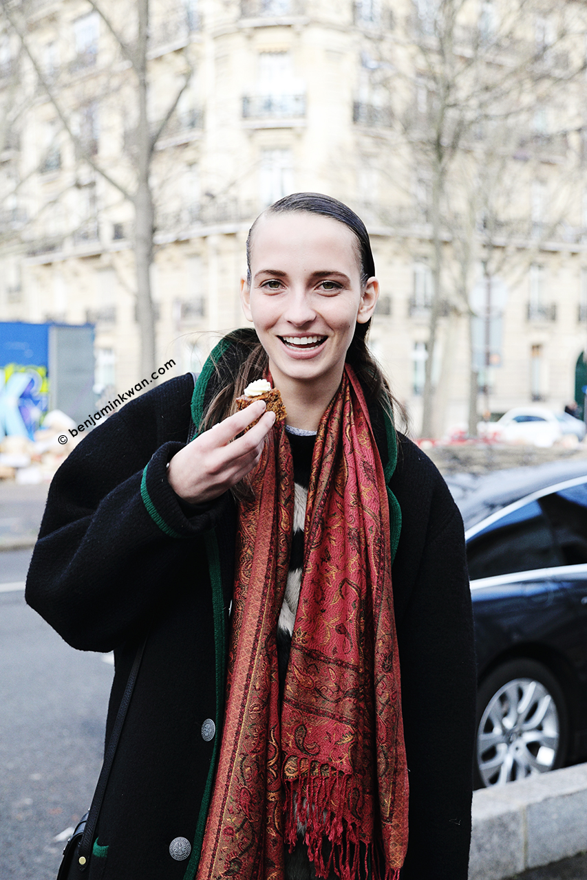 Waleska Gorczevski at Acne Studios FW 2014 Paris Snapped by Benjamin Kwan Paris Fashion Week