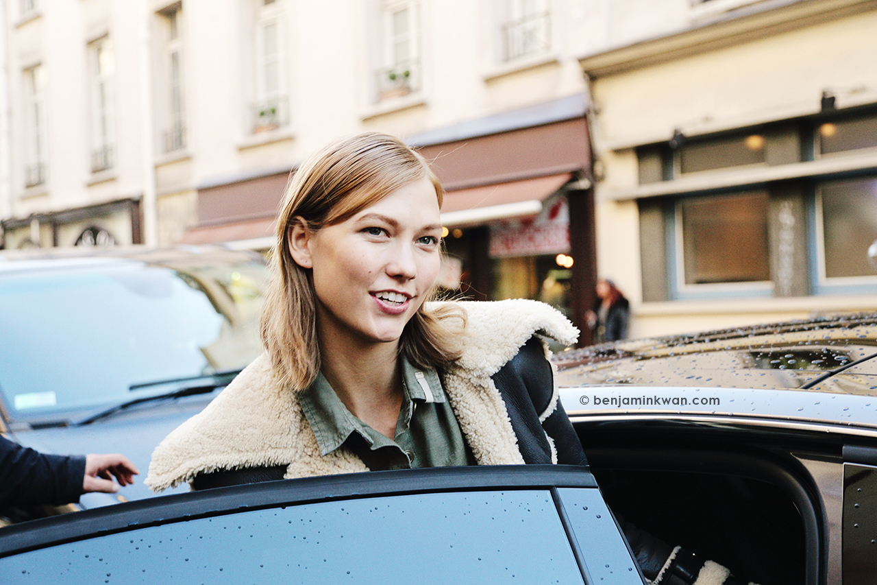 Karlie Kloss at Barbara Bui FW 2014 Paris Snapped by Benjamin Kwan     Paris Fashion Week
