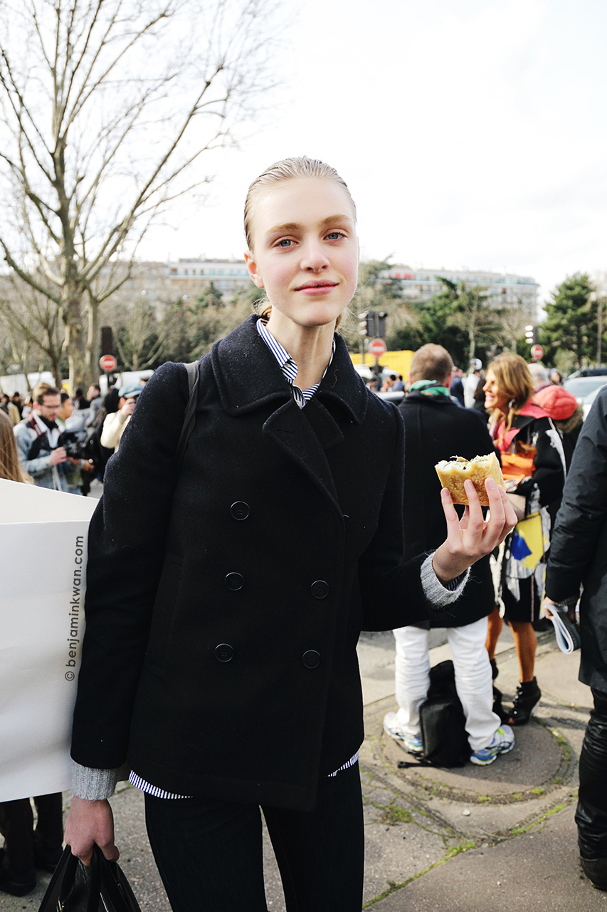 Hedvig Palm at Celine FW 2014 Paris Snapped by Benjamin Kwan Paris Fashion Week