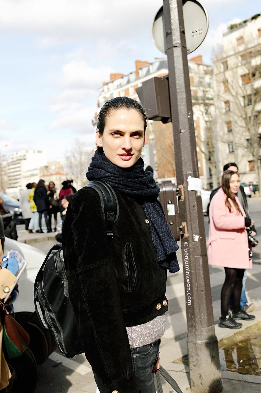 Alba Pistolesi at at Celine FW 2014 Paris Snapped by Benjamin Kwan Paris Fashion Week