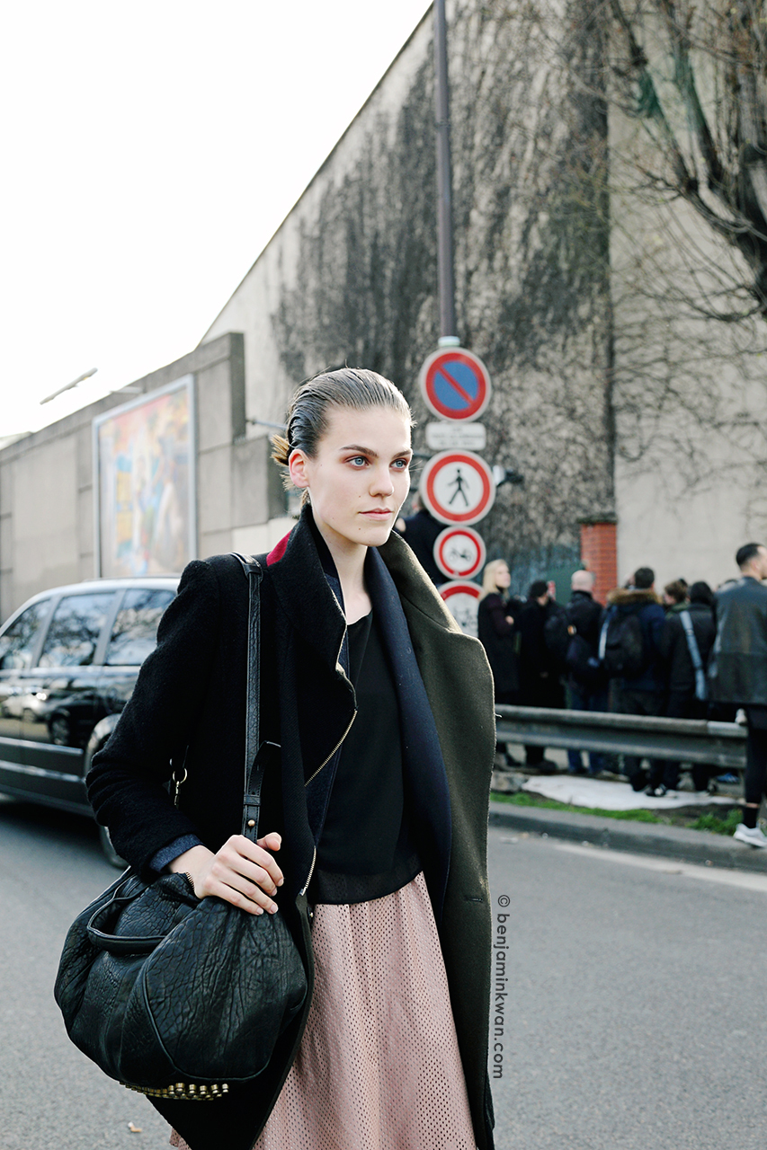 Annemijn Dijs at Celine FW 2014 Paris Snapped by Benjamin Kwan      Paris Fashion Week