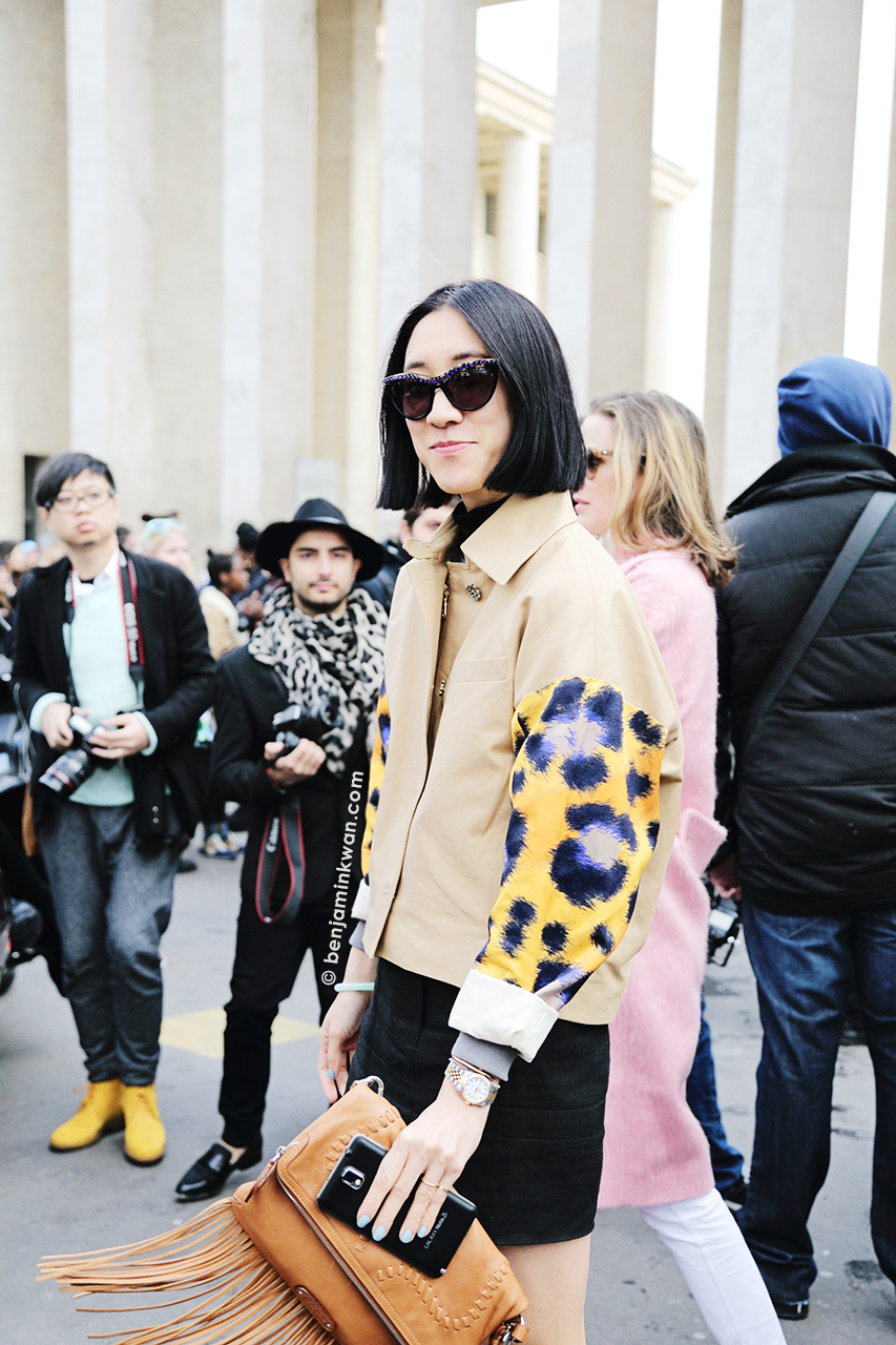 Eva Chen at Acne Studios FW 2014 Paris Snapped by Benjamin Kwan Paris Fashion Week