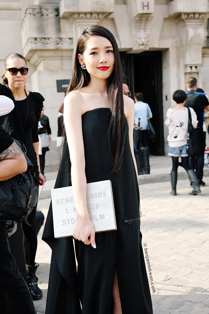 Guo Bi Ting at Acne Studios SS 2014 Paris Snapped by Benjamin Kwan Paris Fashion Week