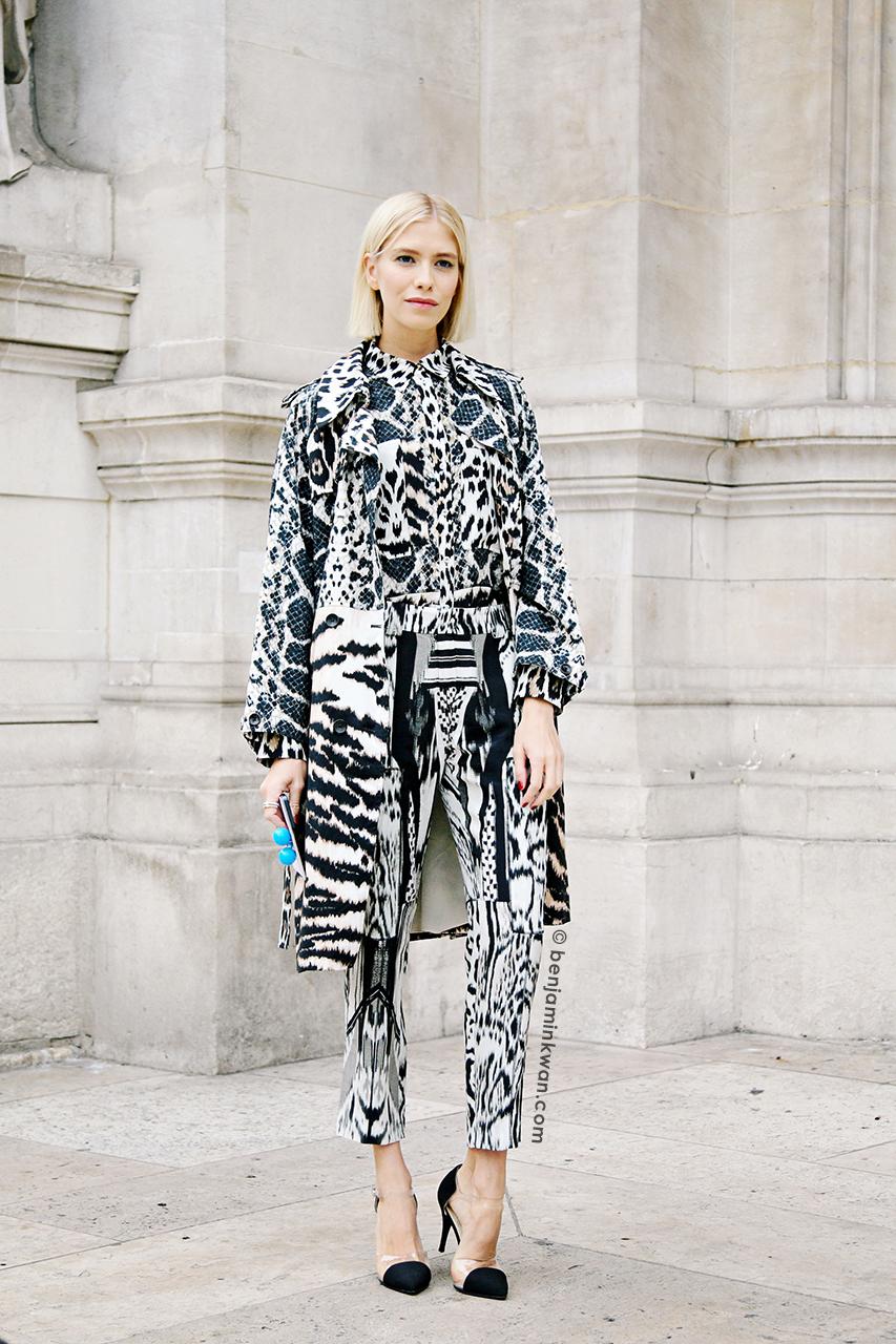 Elena Perminova at Stella McCartney SS 2014 Paris Snapped by Benjamin Kwan Paris Fashion Week
