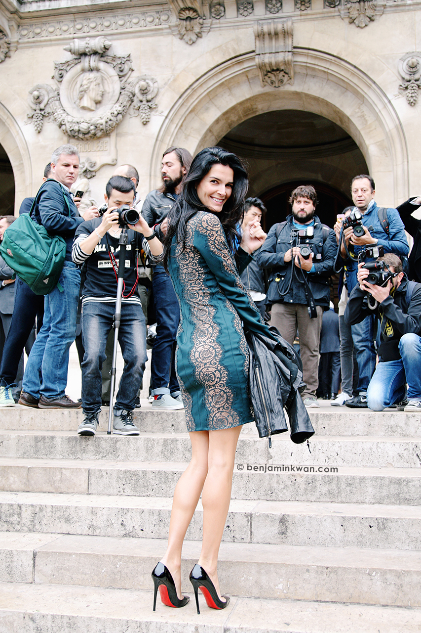 Angie Harmon at Stella McCartney SS 2014 Paris Snapped by Benjamin Kwan     Paris Fashion Week