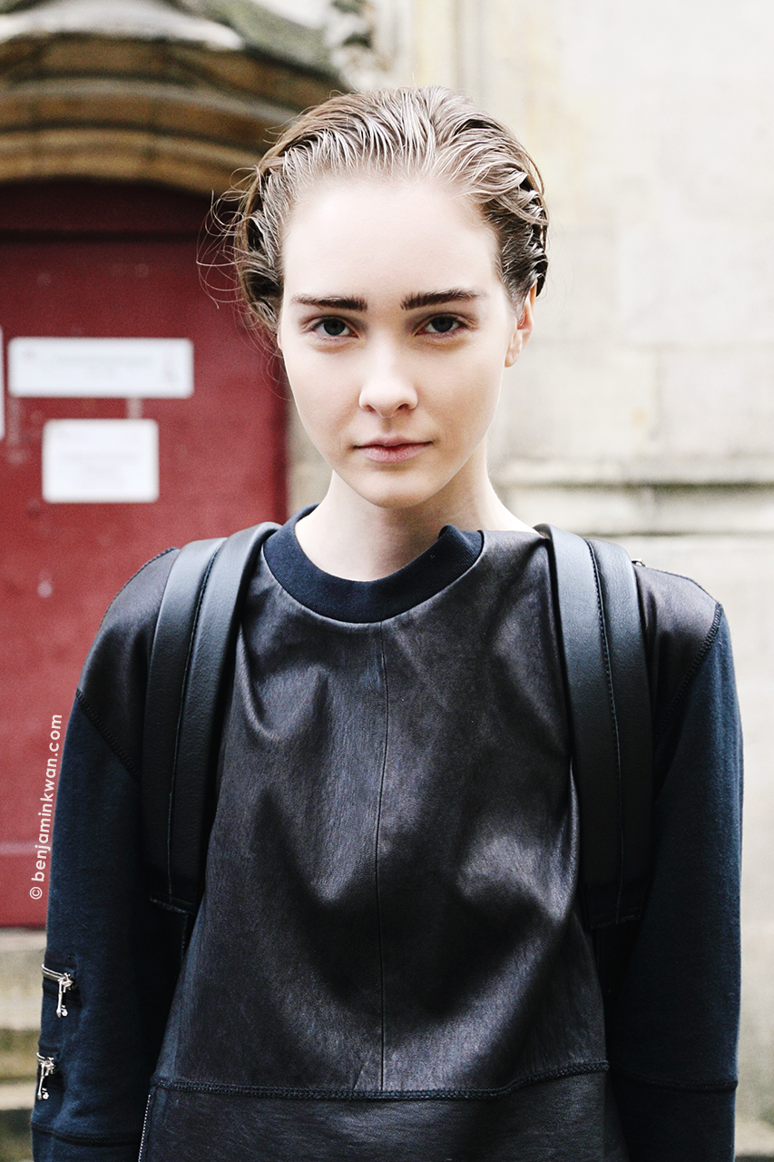 Nicole Keimig at Ann Demeulemeester FW 2014 Paris Snapped by Benjamin Kwan Paris Fashion Week