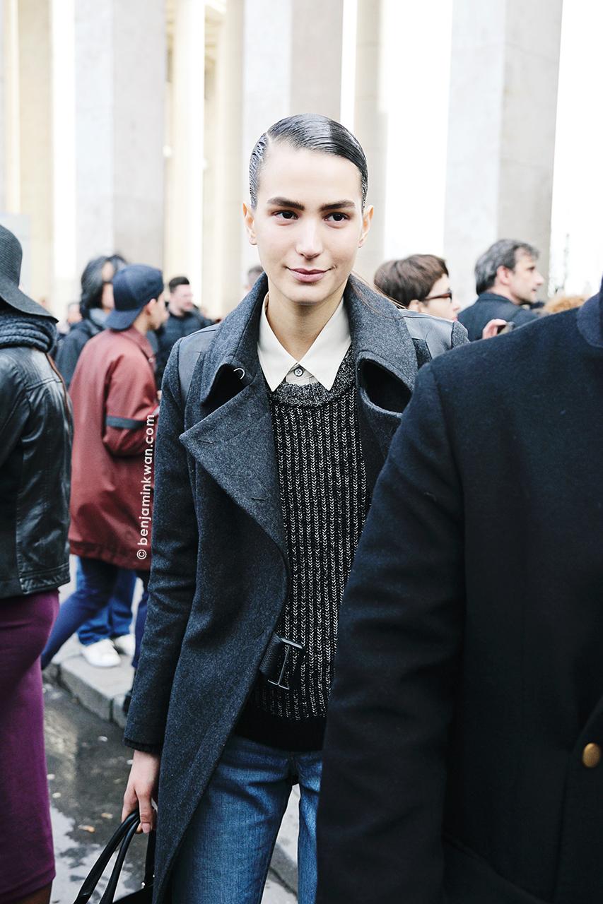 Mijo Mihaljcic at Acne Studios FW 2014 Paris Snapped by Benjamin Kwan Paris Fashion Week