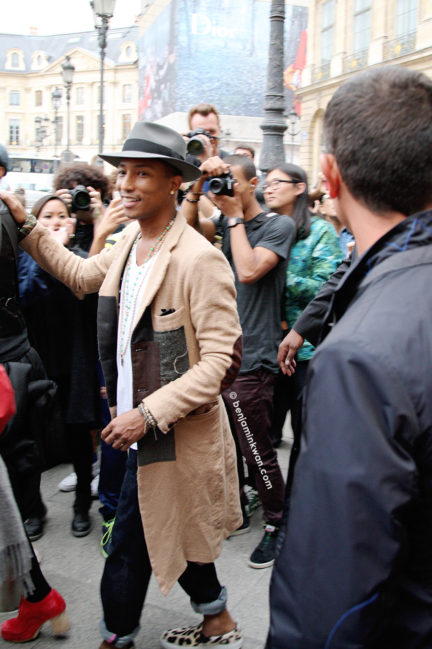 Pharrell Williams at Comme des Garçons SS 2014 Paris Snapped by Benjamin Kwan     Paris Fashion Week