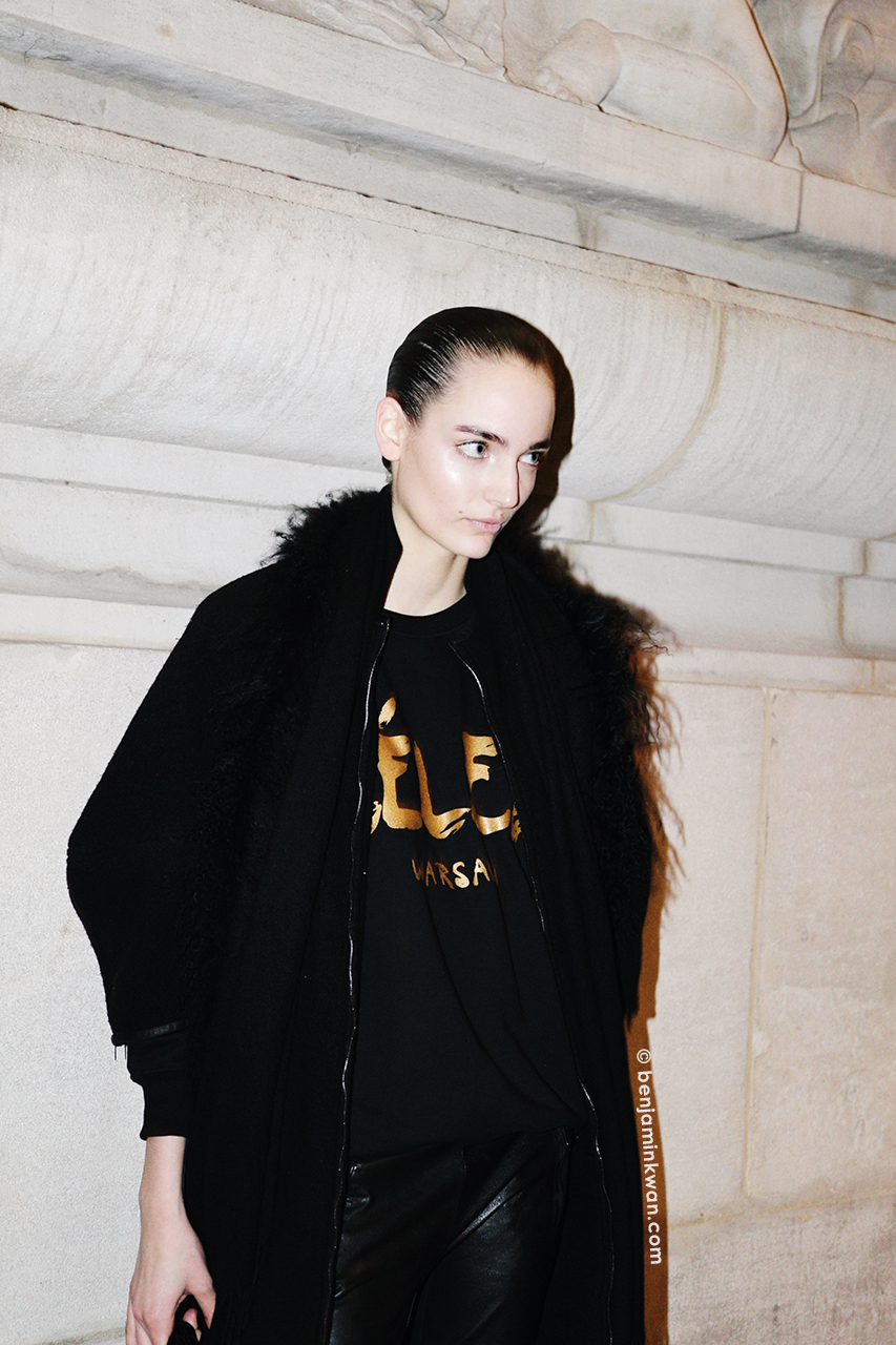 Zuzanna Bijoch at Akris FW 2014 Paris Snapped by Benjamin Kwan Paris Fashion Week