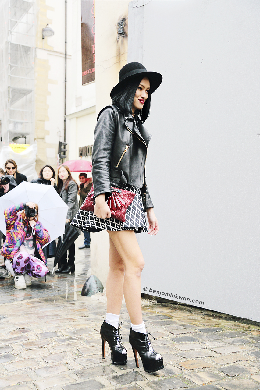 Tiffany Hsu at Ann Demeulemeester FW 2014 Paris Snapped by Benjamin Kwan Paris Fashion Week