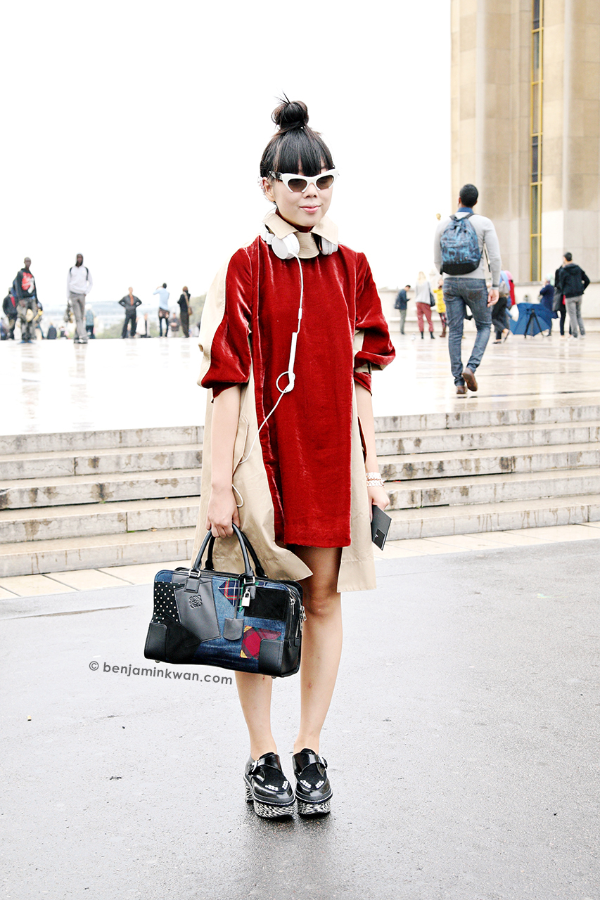 Susie Lau at Haider Ackermann SS 2014 Paris Snapped by Benjamin Kwan Paris Fashion Week