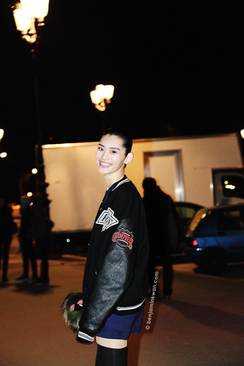 Ming Xi at Akris FW 2014 Paris Snapped by Benjamin Kwan Paris Fashion Week