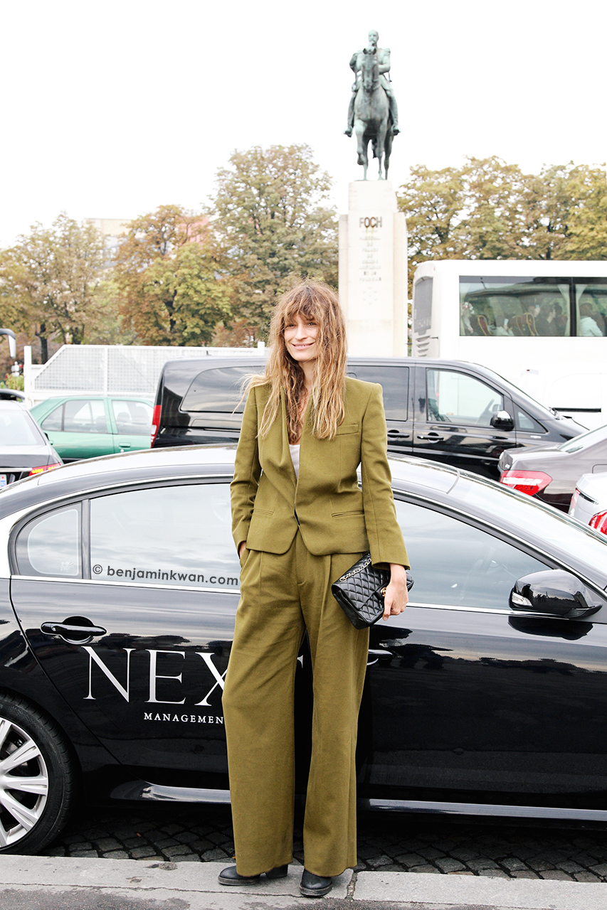 Caroline de Maigret at Haider Ackermann SS 2014 Paris Snapped by Benjamin Kwan     Paris Fashion Week
