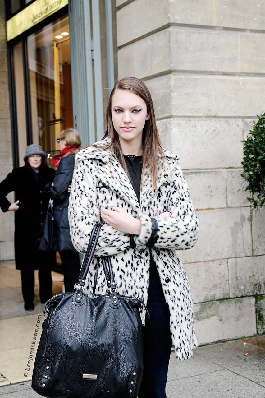 Maggie Jablonski at Roland Mouret FW 2014 Paris Snapped by Benjamin Kwan     Paris Fashion Week