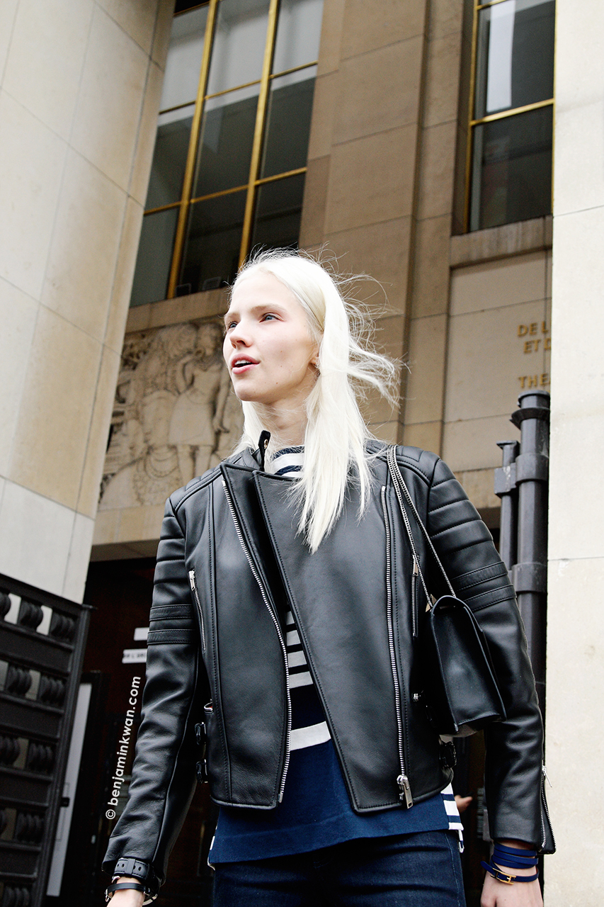 Sasha Luss at Haider Ackermann SS 2014 Paris Snapped by Benjamin Kwan Paris Fashion Week