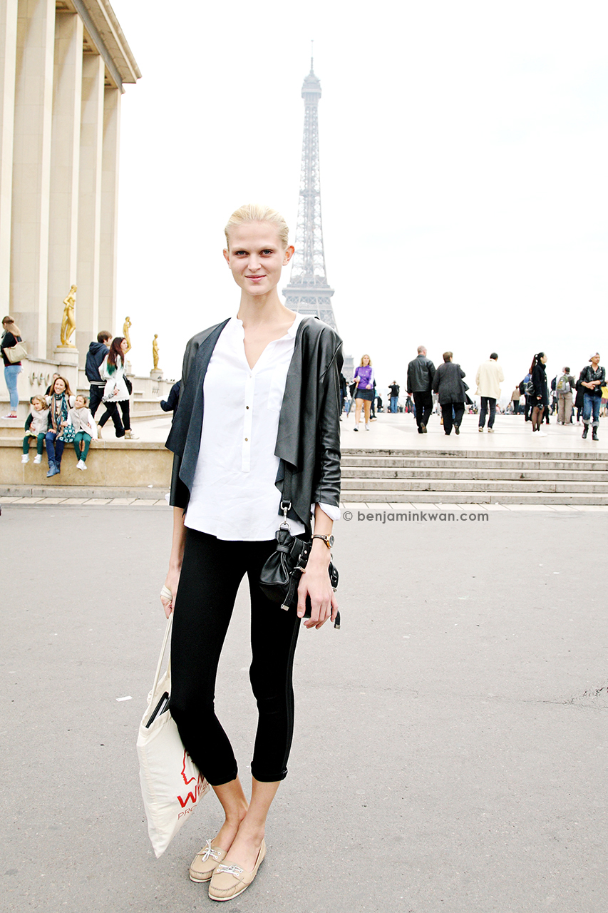 Charlotte Hoyer at Haider Ackermann SS 2014 Paris Snapped by Benjamin Kwan Paris Fashion Week