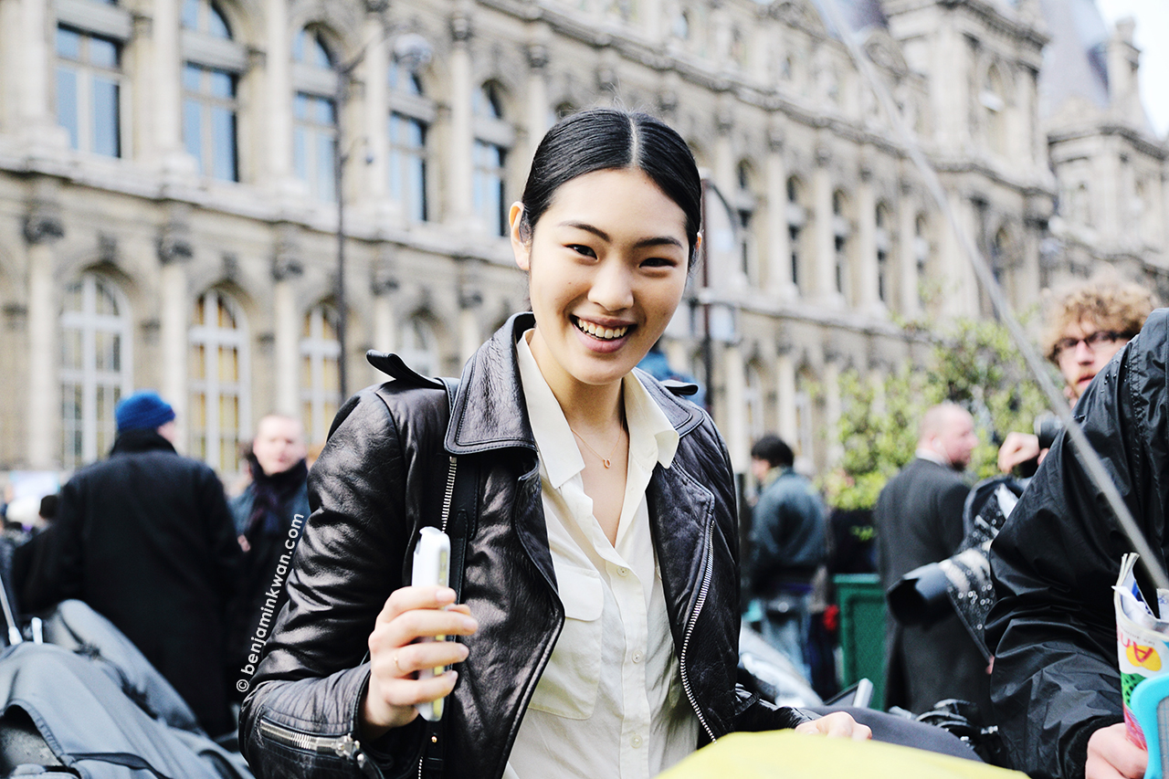 Chiharu Okunugi at Balmain FW 2014 Paris Snapped by Benjamin Kwan Paris Fashion Week