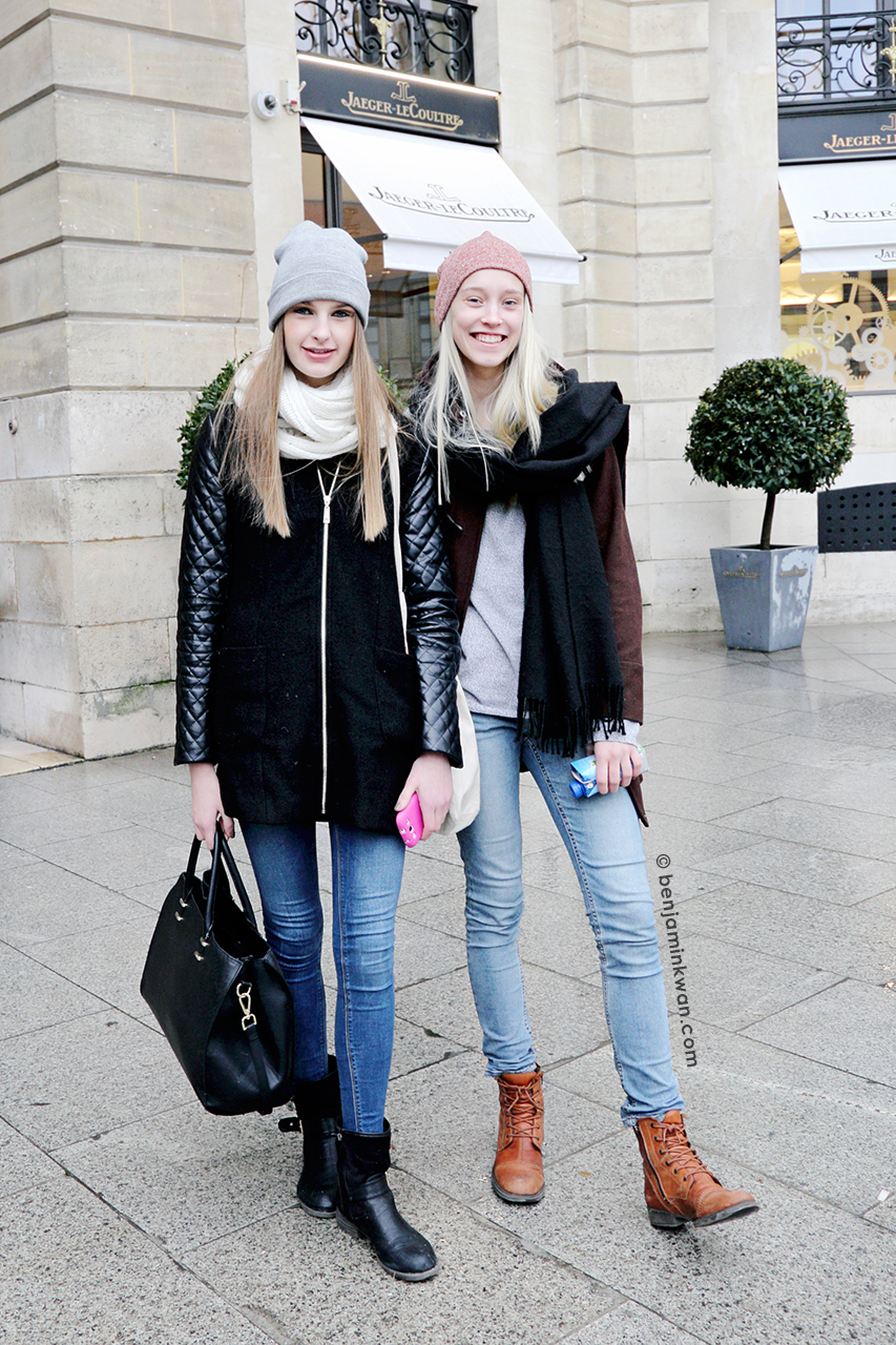 Ieva Palionyte and Eva Berzina at Roland Mouret FW 2014 Paris Snapped by Benjamin Kwan     Paris Fashion Week