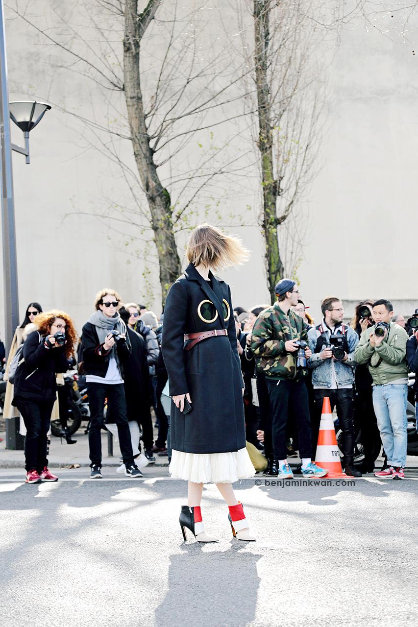 Anya Ziourova at Celine FW 2014 Paris Snapped by Benjamin Kwan      Paris Fashion Week