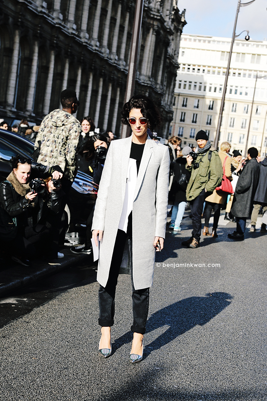 Yasmin Sewell at Balmain FW 2014 Paris Snapped by Benjamin Kwan Paris Fashion Week