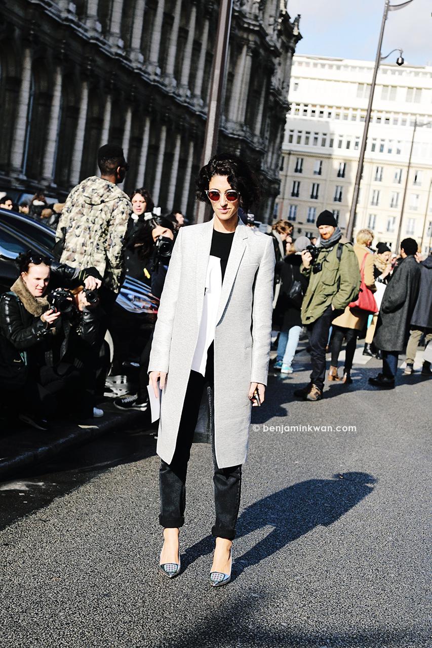 Yasmin Sewell at Balmain FW 2014 Paris Snapped by Benjamin Kwan Paris Fashion Week